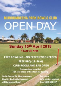 Open Day Flyer April 2018